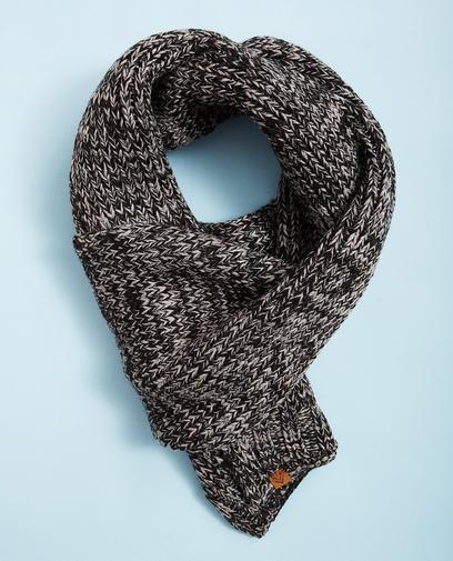 Écharpe gris-noir